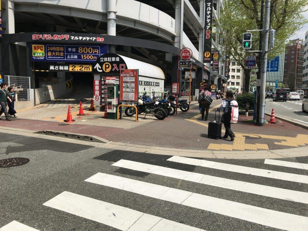 ヨドバシカメラ博多駐輪場