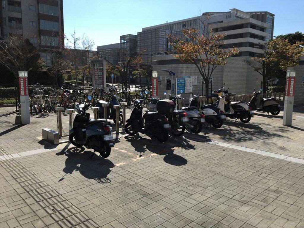 TNC放送会館自転車・バイク駐車場